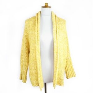 Anthropologie Angel of the North yellow cardigan